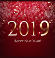 red new year postcard vector image vector image