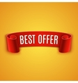Red realistic Ribbon vector image vector image