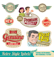 Retro label Set vector image vector image
