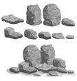 Rock stone set vector image