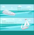 Sea trip web posters passenger liner marine travel