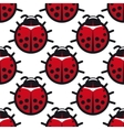 seamless background pattern ladybugs vector image vector image