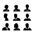 set men and women with business avatar vector image vector image