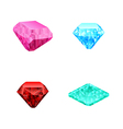 set of different color diamonds vector image
