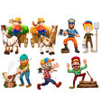 set of farmer character vector image vector image