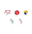 set of initial letter a2z design logo vector image vector image