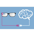 smart glasses connect to brain vector image vector image