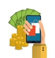 smartphone shopping online icon graphic vector image