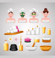 spa treatment therapy vector image