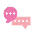 speech bubbles message chat sms isolated design vector image