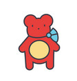 teddy bear concept line icon editable vector image vector image