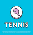 tennis sport icon with ping pong paddle vector image vector image