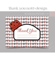 Thank you Note - Cookie from Wonderland vector image vector image