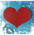 Valentines Day realistic red greeting Card vector image
