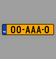 vehicle number plate vector image