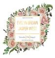 wedding floral invitation invite card vector image vector image