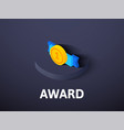award isometric icon isolated on color background vector image