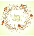 sparrows spring vector image
