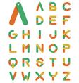 Chain alphabet in flat design vector image