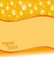 Card with orange water drop vector image
