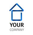 Abstact ribbon Logo template house vector image