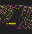abstract colorful technology concept pattern vector image vector image