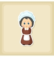 American Pilgrim children icon Thanksgiving day vector image vector image