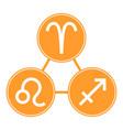 aries sagittarius leo icons astrological signs vector image