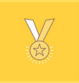 award honor medal rank reputation ribbon flat vector image vector image