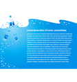 background water drops blue bottle cmyk vector image vector image