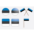 badges with Estonia flag vector image vector image