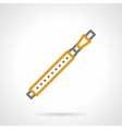 Bassoon simple line icon vector image vector image