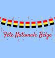 belgium day vector image vector image
