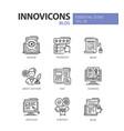 blog - modern line design icons set