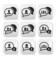 Business meeting communication buttons set vector image vector image
