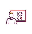 cancer-related ribbon rgb color icon vector image vector image