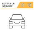 car editable stroke line icon vector image vector image