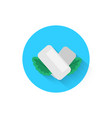 chewing gum with mint leaves is an icon icon vector image