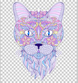 colorful head of cat vector image vector image