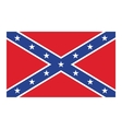 Confederate flag vector image vector image