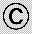 Copyright symbol on transparent background