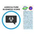 cow message rounded icon with set vector image vector image