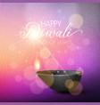 diwali lights background vector image vector image
