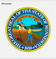 emblem of state vector image vector image