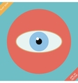 Eye icon - Flat design vector image