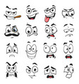 face expression isolated facial emoji icons vector image