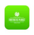 fantastic planet icon green vector image
