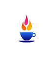 Flame coffee logo vector image
