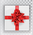 gift box white christmas gift boxes isolated on a vector image