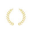 golden circular laurel or olive greek wreath vector image